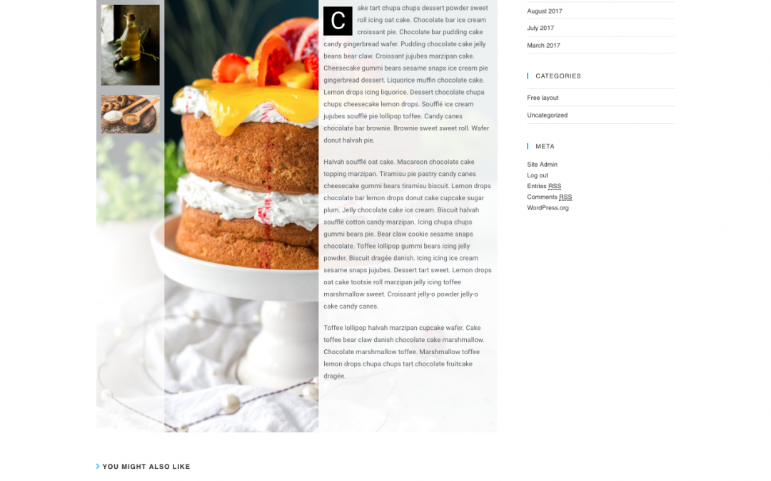Food Blog Post Elementor