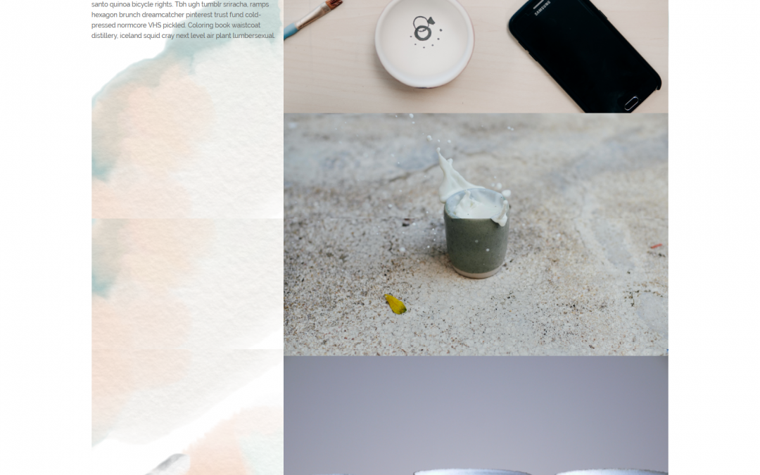 Divi-Water Color Layout